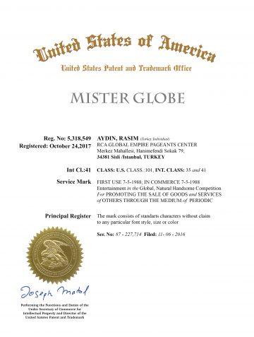 mister_Globe_register_of_rasim_aydin_USPTO